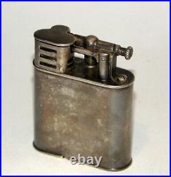 1927 art deco silver-plate dunhill sport windproof petrol lighter original box