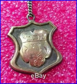 1934 Judaica Lithuanian Sports Club Makabi Kaunas Jewish GOLD/SILVER pin badge