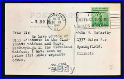 1941 TED WILLIAMS'39 Image Type 1 Silver Gelatin Real-Photo Postcard GEO BURKE