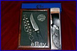 1994 United Cutlery COLT Hunter Sporting Knife, Belt Buckle & Shadow Box Display
