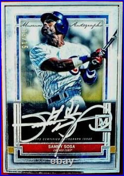 2020 Topps Museum Collection Sammy Sosa Silver Frame Silver Ink Auto #13/15 Cubs