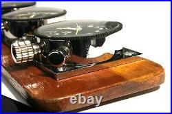 3 Vintage 60's HEUER Dashboard Set Master Time, Sebring, Montecarlo. Excellent