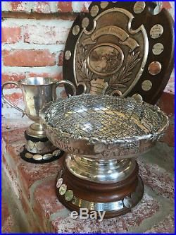 Antique English Auto Car Club Race Sport Trophy Bowl 1962 Silverplate Lancashire