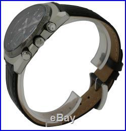 Bulova Leather Chronograph Mens Watch 98A155