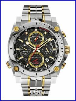 Bulova Men's Champlain Chronograph Collection Two Tone Precisionist Watch 98B228
