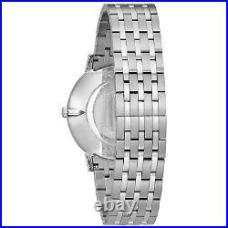 Bulova Men's Classic Collection Quartz Blue Dial Silver Tone 39mm Watch 96A188