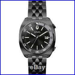 Bulova Men's Snorkel Collection Quartz Black Dial Bracelet 43mm Watch 98B219