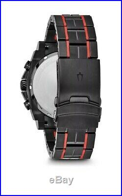 Bulova Mens Chronograph Collection Precisionist Black & Red S/Steel Watch 98B313