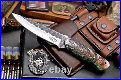 CFK Handmade CPM 3V Custom PINE CONE Hunter Skinner Bushcraft Sport Knife-Set