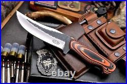 CFK Handmade Hammered D2 Custom Large Hunting Skinner Camping Sport Knife Set