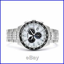 CITIZEN COLLECTION CB5874-90A Watch Eco-Drive Chronograph White Black PANDA