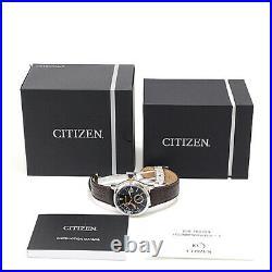 CITIZEN Men's Signature Collection NB3016-05E Automatic SS Leather a0417