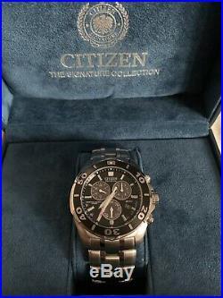 Citizen Eco-Drive Signature Collection Chronograph Divers Watch Model BL5440-58E