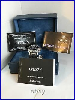 Citizen Mens Signature Collection Eco-Drive Octavia Alarm P. Calendar Watch