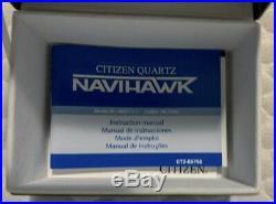 Citizen Navihawk Pilot Style Watch JN0120-85X