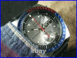 Classic SEIKO Chronograph 6139-6002 Silver Dial Serial # 605820 Nice Collections