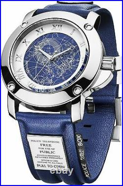 Dr Who Tardis Men's Quartz Watch with Blue Dial Analogue Display DR194 Zeon