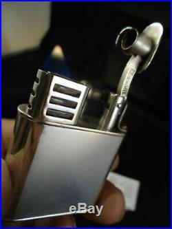 Dunhill Unique'B' SPORTS Petrol Lighter Silver Plated Feuerzeug Briquet
