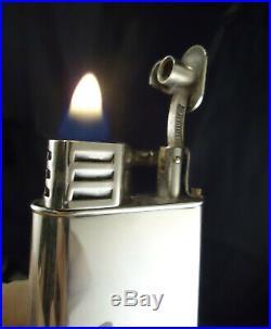 Dunhill Unique SPORTS'A' Petrol Lighter Silver Plated Feuerzeug/Briquet