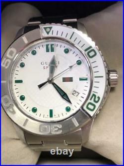 GUCCI G Timeless City Collection 126.2 Swis Quartz YA126232 White Men NIB