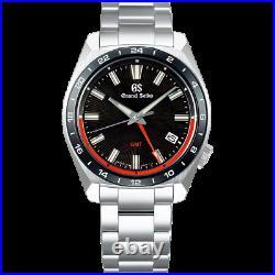 Grand Seiko Sport Collection SBGN019 GMT Watch 9F86 Ceramic Bezel Black Dial