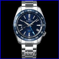 Grand Seiko Sport Collection Spring Drive 40.5 MM GMT Blue Dial Watch SBGE255