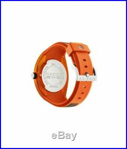 Gucci Sync XXL Unisex Orange Rubber Watch (YA137108)