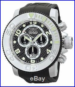 Invicta Men's 0412 Pro Diver Collection Sea Hunter Chronograph Black Poly Watch
