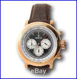 Invicta Men's Rose Gold Brown Leather Chronograph Watch 13059 RARE V Collection