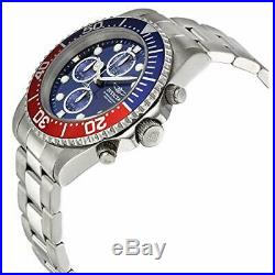Invicta Mens Pro Diver Collection Stainless Steel Chronograph Watch