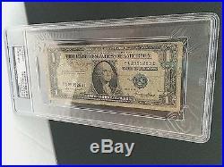 JOE DiMAGGIO SIGNED RARE SERIES 1935E SILVER CERTIFICATE $1 BILL PSA SLABBED
