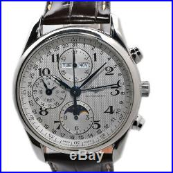 LONGINES MASTER COLLECTION L2.673.4 Silver dial Automatic Chronograph Moon phase