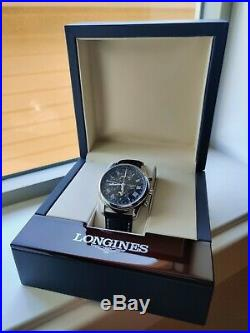 Longines Master Collection Moonphase Chronograph Black Dial L2.673.4.51.3 with box