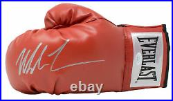 Mike Tyson Signed Red Everlast Left Hand Boxing Glove Silver JSA