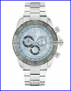 NEW Guess Collection Silver Tone Swiss Made Sports Racer Chrono Watch Y02005G7