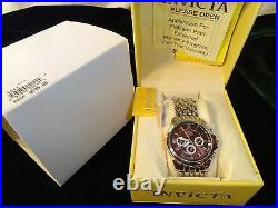 NEW Men's Invicta 4244 Collection Silver Tone with Brown Face MSRP $295