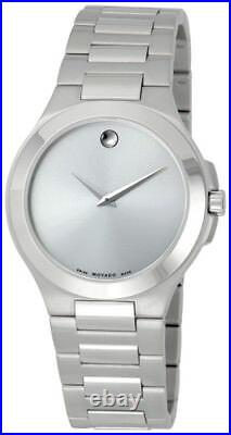 NEW Movado 0606165 Corporate Exclusive Collection Silver Tone Men's Watch $895