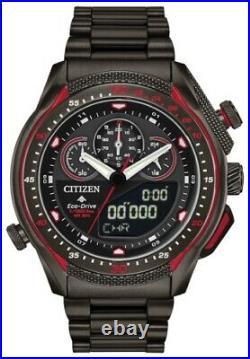New Citizen Eco-drive Promaster Sst Collection Black Plated Bracelet Jw0137-51e