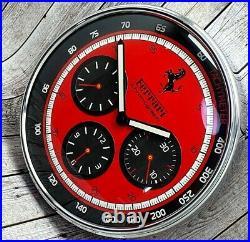 New! Collectible Panerai Ferrari Gran Turismo Watch Resemble WALL CL0CK Red Dial