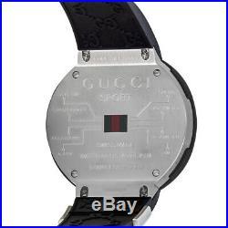 New Gucci Ya114103 I-gucci Collection Digital Black Rubber Strap Swiss Movement