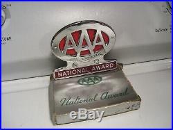 Original 1950s nos AAA auto club emblem badge chrome vintage scta GM Ford Chevy