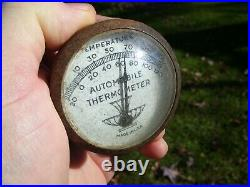 Original 1950s old auto Thermometer visor Accessory vintage scta GM Ford Chevy