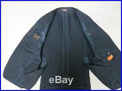 Paul Stuart SB PAUL Silky Powder Collection silver button sport coat 40 R