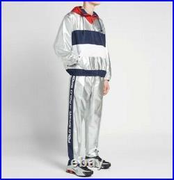 Polo Ralph Lauren Sport LIMITED EDITION Metallic Silver Collection Pants Sz M