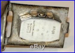 Rare 1927 art deco dunhill sterling silver sport windproof petrol watch lighter