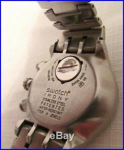 Rare Men's Swatch James Bond 007 Villain Collection Chronograph Watch