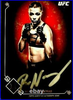 Rose Namajunas 2017 Topps UFC Museum Collection Autograph Silver Ink Auto Card