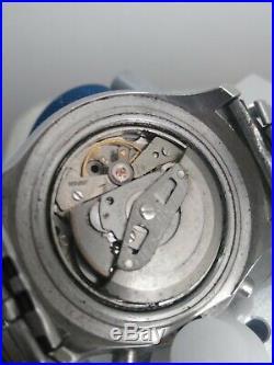 Seiko Helmet 6139-7100 Automatic Chronograph 100% Japan Vintage Collectible