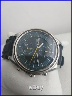 Seiko Jumbo Blue 6138-3002 Automatic Chronograph 100% Japan Vintage Collectible