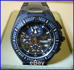TechnoMarine Blue & White Diamonds Cruise Chrono Collection (Unisex) Black Watch